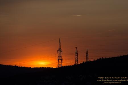 Himmlisches Licht bei Sonnenuntergang