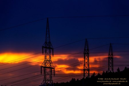 Himmlisches Licht zur blauen Stunde